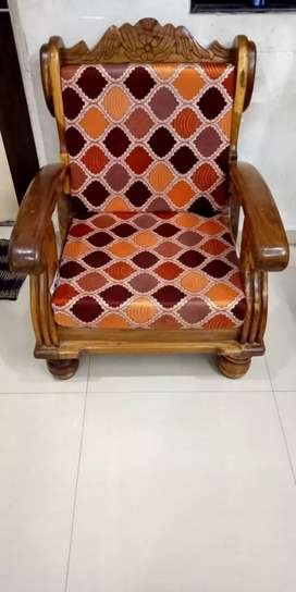 Two Sofa chair only original saag wood