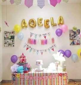 Jasa dekor ulang tahun sederhana