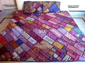 Antique Sindhi Bed Sheets Handmade Bed Sheets