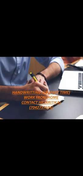 HAND WRITING WORK FROM HOME