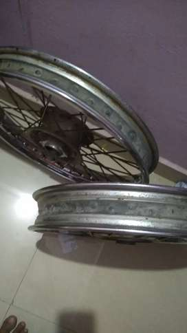 Genuine Royal Enfield stock RIM of Classic 500 of both front and Rear