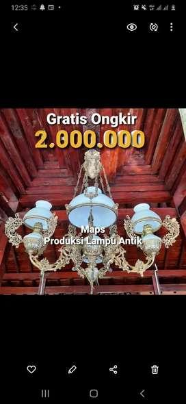 Produksi Lampu Gantung Antik Klasik Hias Rumah Cafe Joglo Gebyok