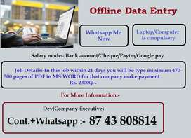 Part Time Job. Online processing. Make money with typing work. Secure