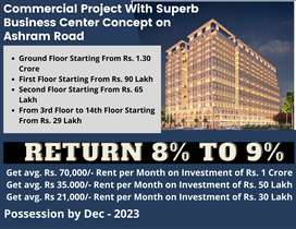 Pre-Leased 496 Sq. Feet Office Space for Sale on Ashram Road