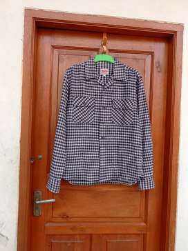 Kemeja Flanel Import brand Gumuintl Authentic Apparel Size L