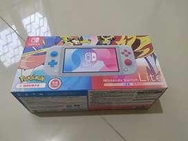 Nintendo switch lite pokemon edition+2 game pokemon sword dan fifa2020