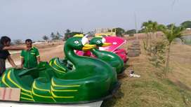 sepeda air angsa hijau