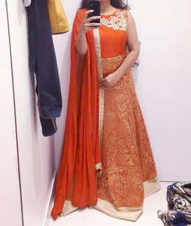 Full length dress with dupatta
