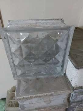 Glass block motif diamond