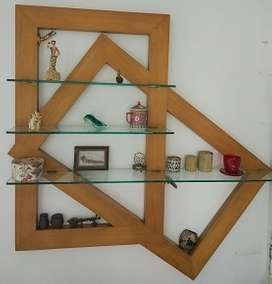 """""""Crooked Frames"""" : wall decorative unit, made"""