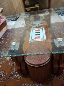 A glass centre table