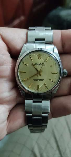 Real vintage Rolex watch since 1956 men's oyster perpetual automatic