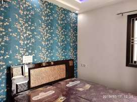 60 Sq yards 2bhk fully furnished flat with car parking at 24.5 lacs