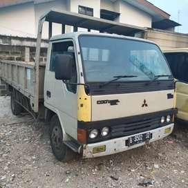 truk colt diesel dobel bak besi 3 way thn 96 kabin lebar jungkit 120ps