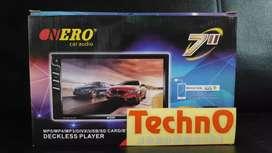 Nero Tv 7 inch inci youtube usb mp4 tape doubledin for paket sound