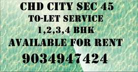 2,3,4 bhk floor khothi shop available on rent basis in chd city sec 45