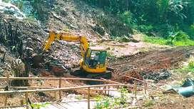 Cut and fill aspal jalan beton pengurugan tanah puin land clearing
