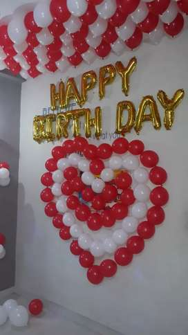 Balloon decoration work