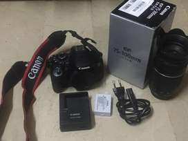 Canon 650d With 75 300 lens