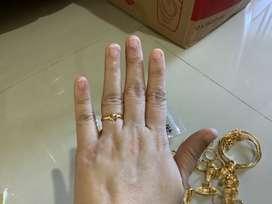 Cincin emas setengah gram model hati