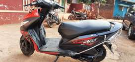Honda dio red and gray colour