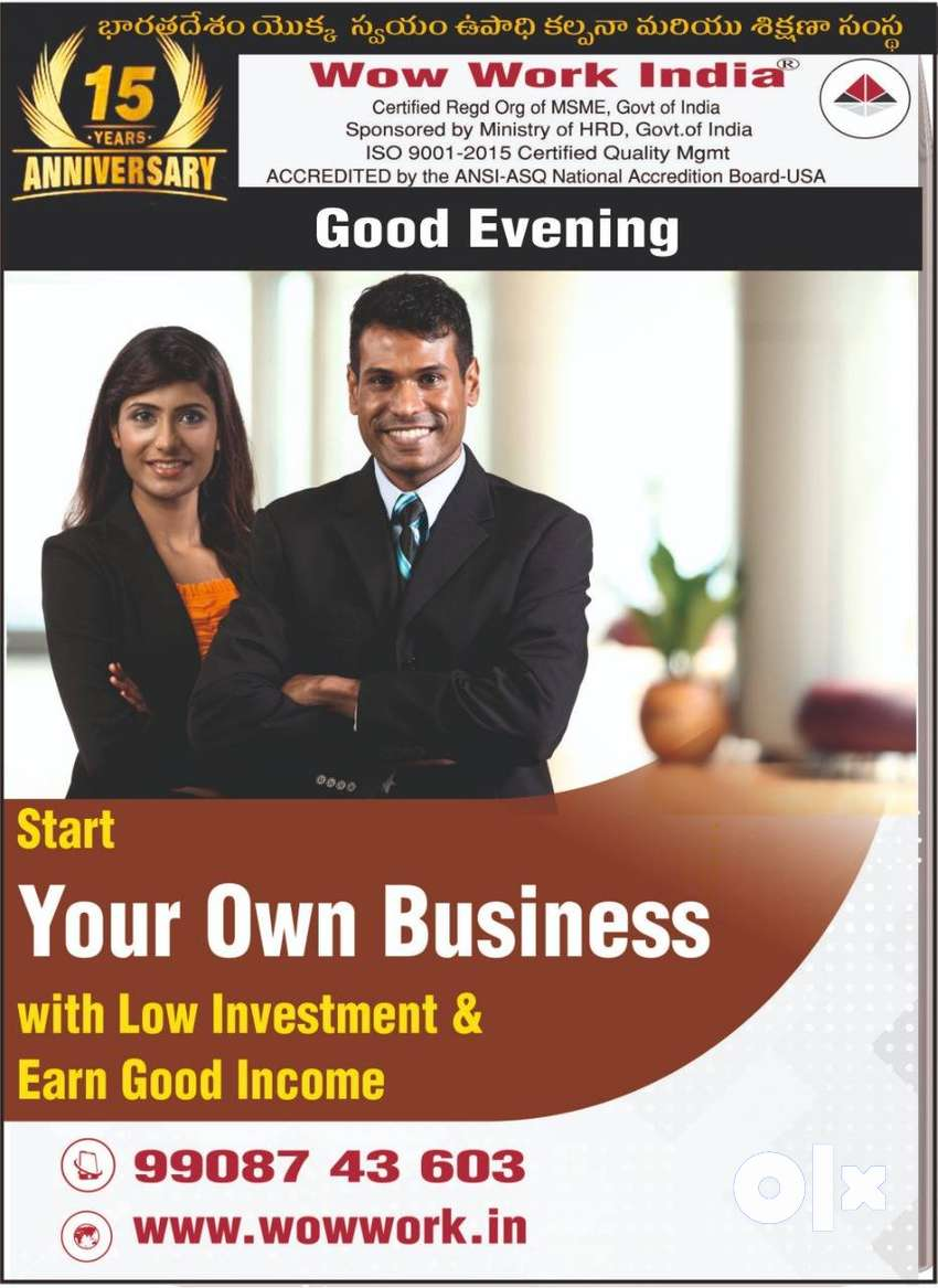 Get Free from Monthly overheads Expenditure Low Startup Cost Training
