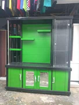 Bufet partisi murah / bufet tv partisi murah / lemari tv partisi hijau