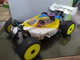 RC Buggy 1/8 engine  convert electric
