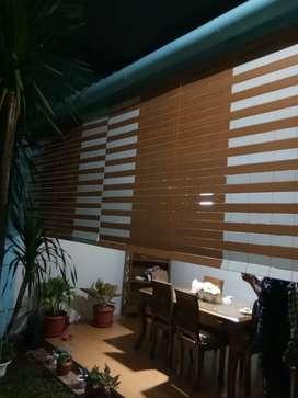Tirai kayu krey kayu PVC 6