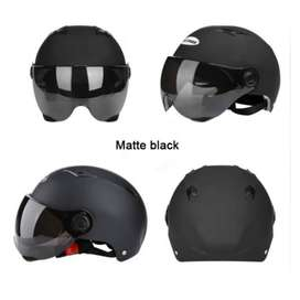 Helm Open Face Scooter Moped Sepeda
