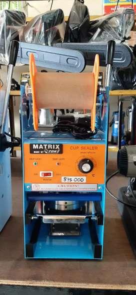 Cup Sealer/Mesin Press Minuman Merk Matrix