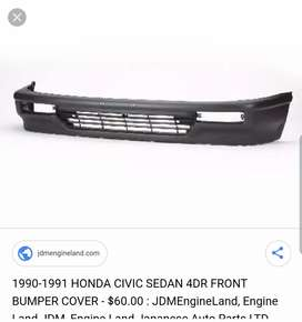 Honda Civic 1997 to 91 Front Bumper New