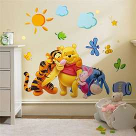 Winnie The Pooh Friends Wall Stickers For Kids Rooms Decorative
