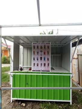 Booth minimalis Conatiner