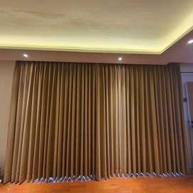 Jual dan Pasang Gorden Wallpaper Rumah Kantor Hordeng Gordyn VitraseJu
