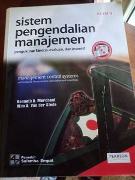Dijual buku sistem pengendalian manajemen. Penerbit : salemba 4