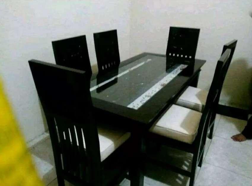 Meja makan ukirr jati 0
