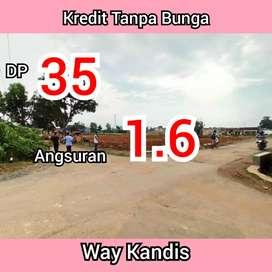Tanah Kredit murah dan strategis dekat Pasar Way Kandis Tanjung senang