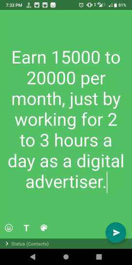 Digital advertiser executive (work from home)