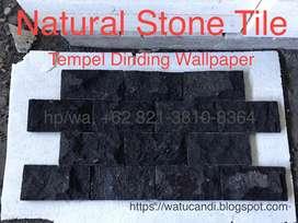 Hitam batu alami tempel dinding rta lava candi vulcano pengrajin