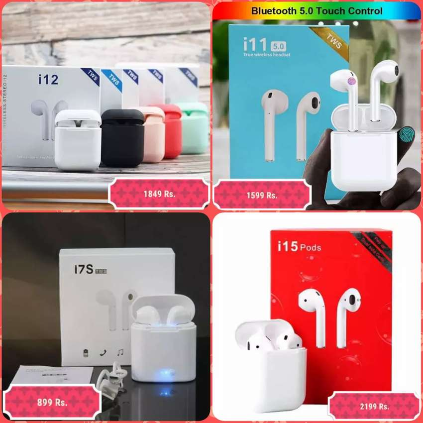 Airpods LOOTO OFFER DELIVERY ALL PAKISTAN TWS i7S i11 i12 i15  SALE 0