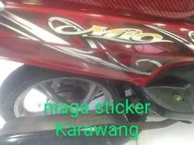 Striping Mio 2011 merah
