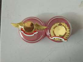 Pin cor wings padi kapas sesuai logo komunitas