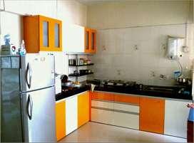 Beautiful 2 Bhk semi furnished high rise flat near Madhapar Chowk