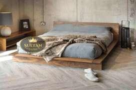 Ranjang tempat tidur dipan kayu jati asli
