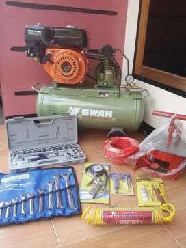 Big Sale Kompresor Swan & Peralatan Bengkel Lengkap Bsa Cod