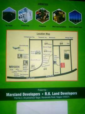Get your dream land in Nagpur Besa road at Lowest price.