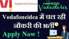 JOBS! HIRING IN TELECOM COMPANY VODAFHONE IDEA PVT LTD COMPANY URGENT