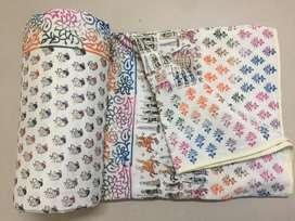 soft mulmul jaipuri dohars (AC Blankets)