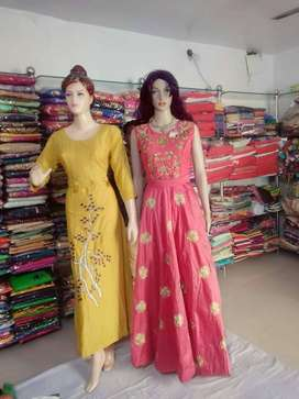 combo offer one long Kurti and one long dress